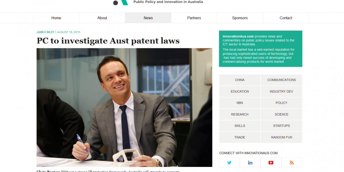 The Productivity Commission to investigate Australia's Intellectual Property arrangements