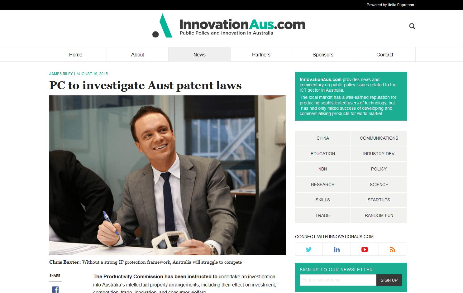 The Productivity Commission to investigate Australia's intellectual property arrangements
