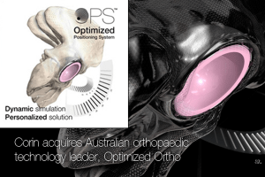 Australian orthopaedics technology company and client of Baxter IP, Optimized Ortho, acquired by UK-based Corin Group