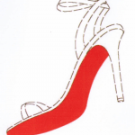 Louboutin red soled high-heel shoes