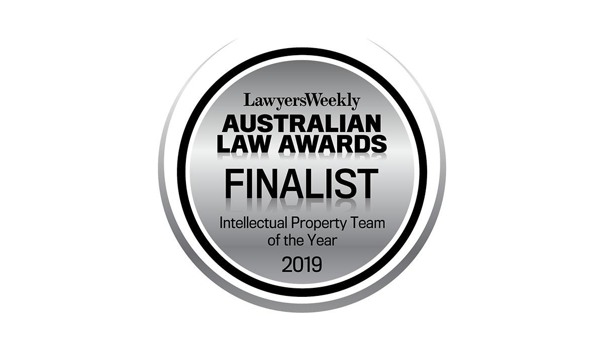 Baxter IP, a finalist in the 19th Australian Law Awards