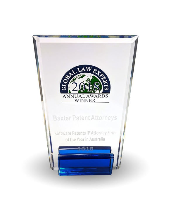 Global Law Experts 2018 Annual Awards Winner - Software Patents IP Attorney Firm of the Year (Australia)