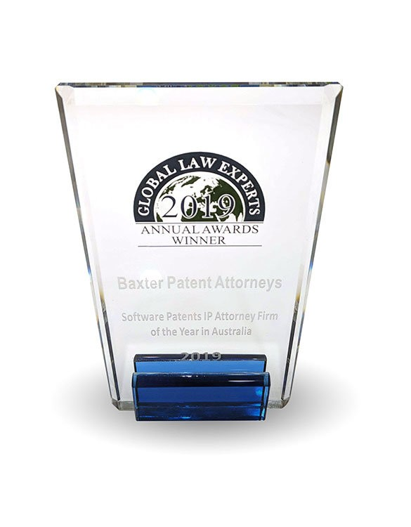 Global Law Experts 2019 Annual Awards Winner - Software Patents IP Attorney Firm of the Year (Australia)