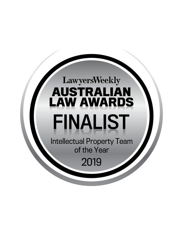 Finalist - Intellectual Property Team of the Year, 19th Lawyers Weekly Australian Law Awards (2019)