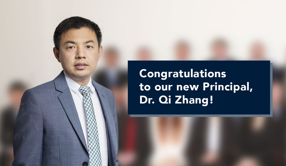 Congratulations to our new Principal: Dr. Qi Zhang!